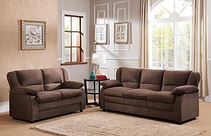 Kings Brand Furniture Chocolate Microfiber Sofa U0026 Loveseat Living Room Set