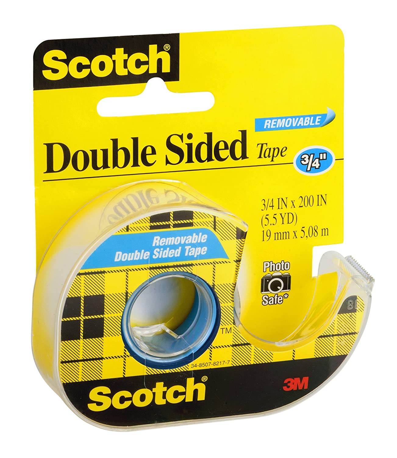 3M 238 3//4 x 200 Scotch Double Sided Removable Tape 3m Co.