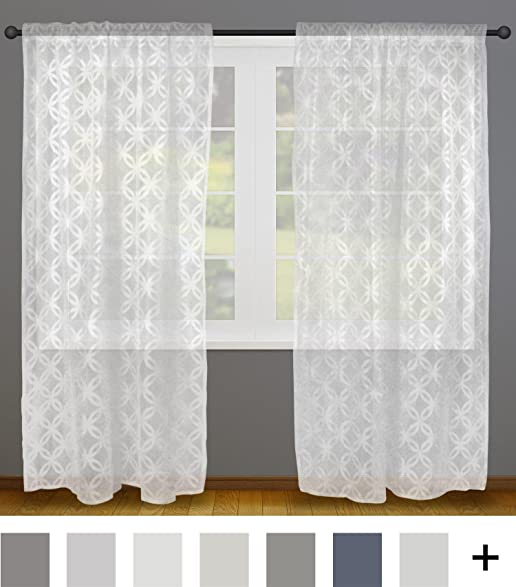 window curtains for living room. DII Sheer Lace Decorative Window Treatments For Bedroom  Living Room Small Windows Curtain Amazon com