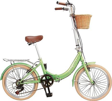 DaFatCat Bicicleta Plegable de diseño Dorothy 1939, 6 ...