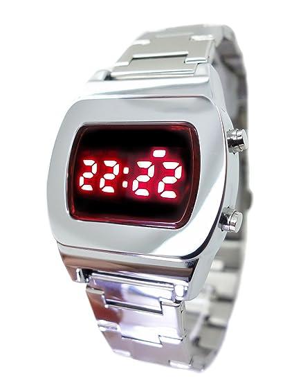 TX8 Retro LED reloj plata 70S estilo pantalla Digital - edición limitada - coleccionistas modelo clásico: Amazon.es: Relojes