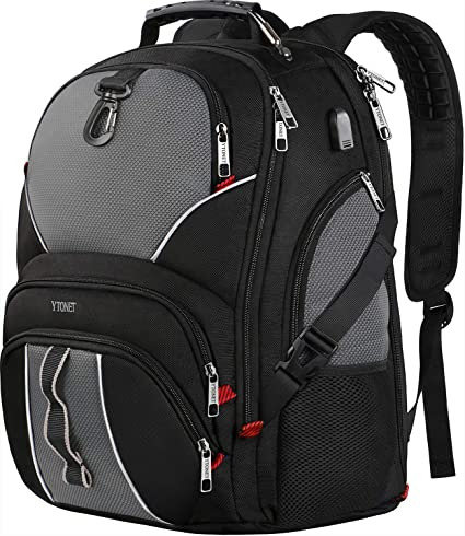 597f4e268a26 Extra Large Backpack, Travel Laptop Backpacks for College School Men Women  with USB Charging Port, 50L TSA Approved Water Resistant Anti Theft Durable  ...