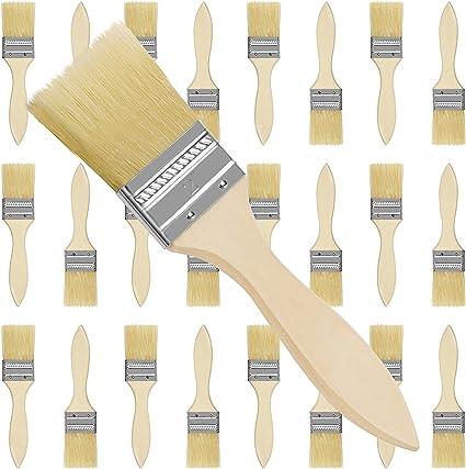 Kurtzy Brochas para Pintar 5,08 cm (Pack de 24) Set Brocha Plana Pintura de Madera Profesional para Pintar, Tintes, Barnices, Pegamentos y Bricolaje ...