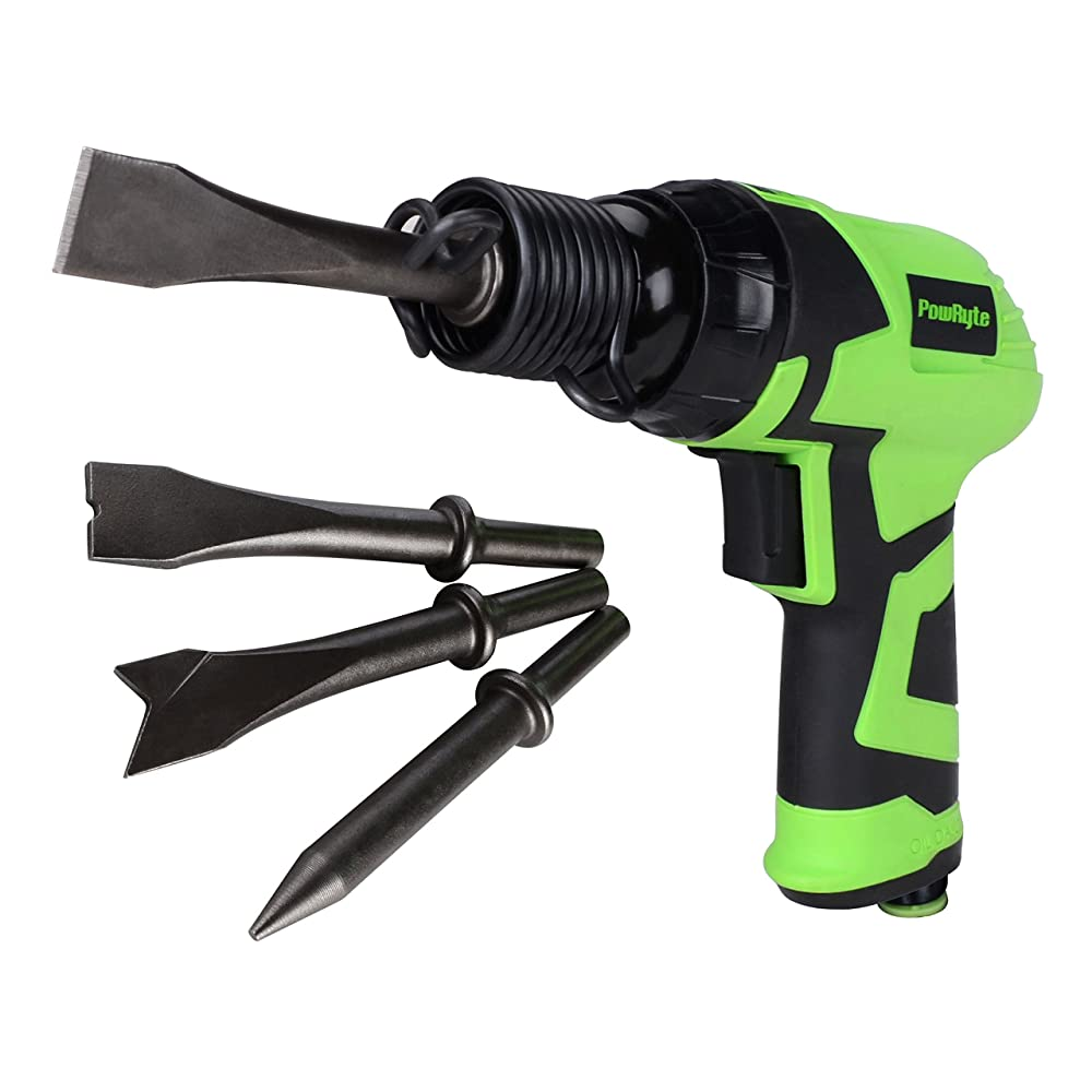 PowRyte Elite Composite Short Stroke Air Hammer with 4 Chisels Review