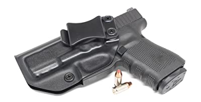 Concealment Express IWB KYDEX Holster: fits GLOCK 19 23 32 - Custom Molded Fit - Made in USA - Inside Waistband Concealed Carry Holster - Adjustable Cant & Retention