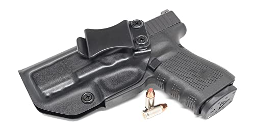 Concealment Express IWB KYDEX Holster: fits GLOCK 19 19 X 23 32 (Gen 1-5) - Custom Fit - US Made - Inside Waistband - Adj. Cant/Retention