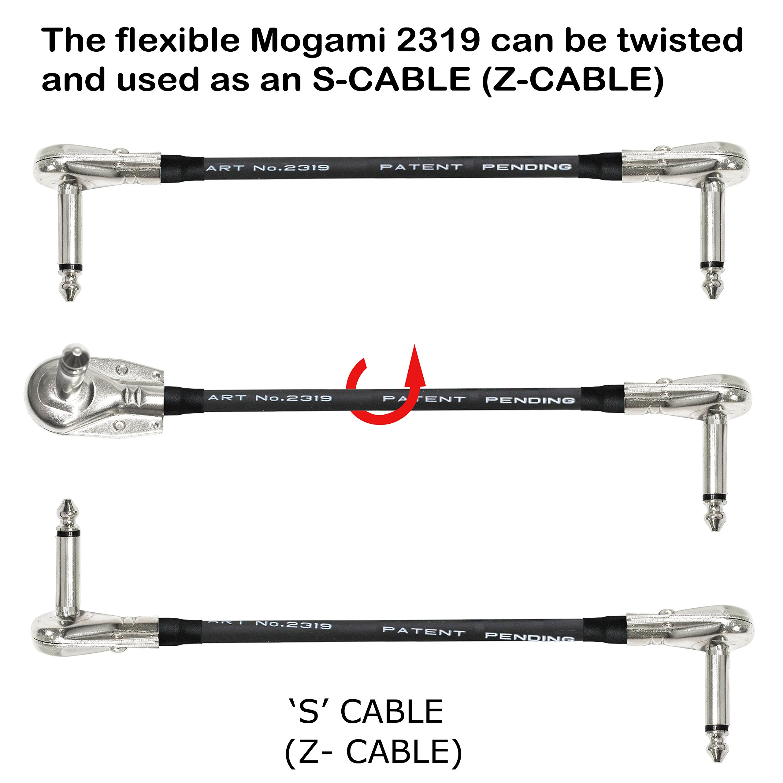 6 Units - 6 Inch - Pedal, Effects, Patch, instrument cable CUSTOM MADE By WORLDS BEST CABLES – made using Mogami 2319 wire and Eminence Nickel Plated ¼ inch (6.35mm) R/A Pancake type Connectors by WORLDS BEST CABLES (Image #5)
