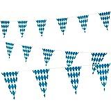 118 Feet Oktoberfest Bavarian Pennant Banner - Hanging Check Flag German Themed Party Decoration