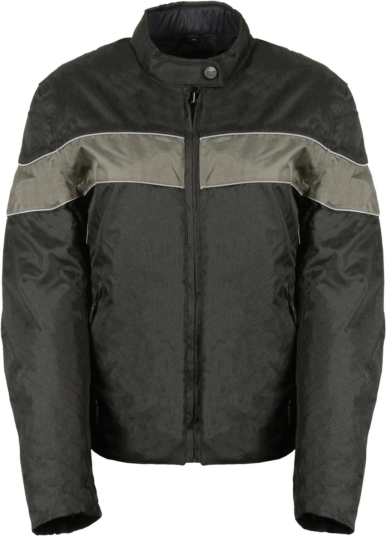 Bikers Edge Womens Nylon Jacket with Vents Black, Small