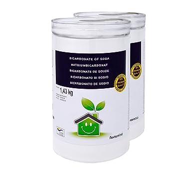 NortemBio Bicarbonato de Sodio 2x1.43kg, Insumo Ecológico de Origen Natural, Libre de Aluminio, Producto CE.: Amazon.es: Hogar