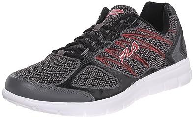 868d17831721 Fila Men s 3A Capacity Running Shoe Dark Silver Black Red