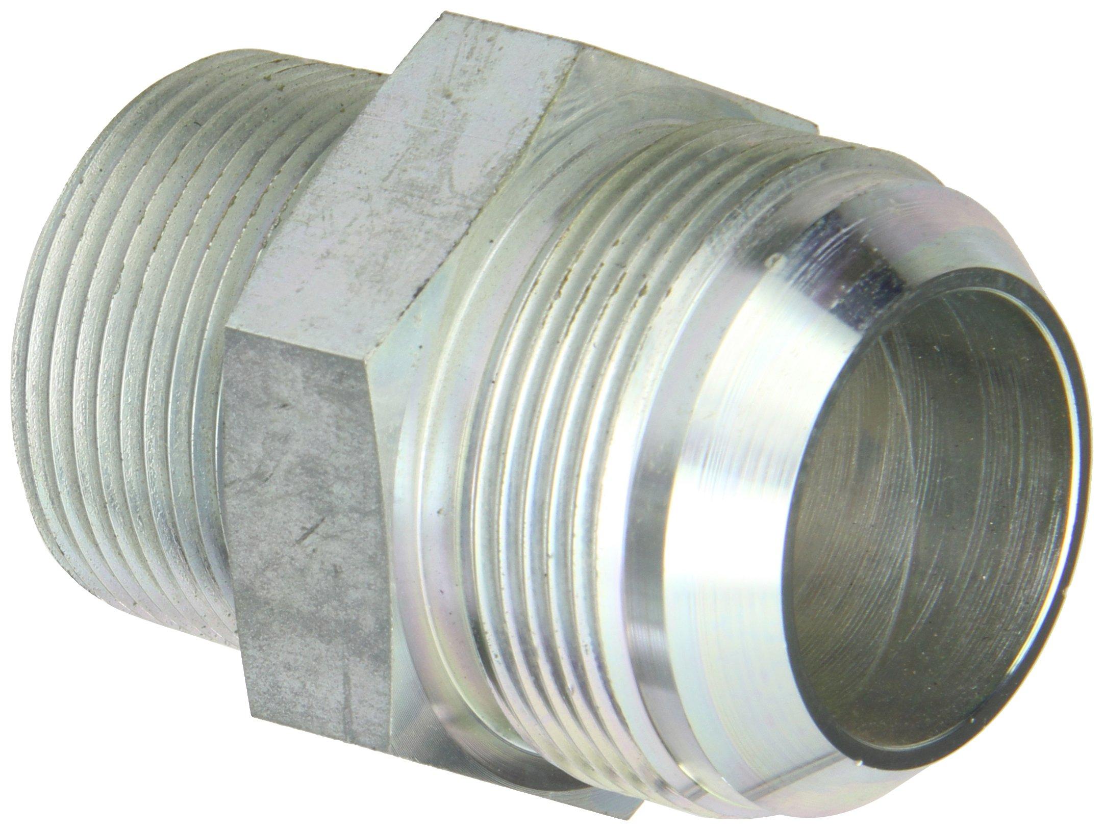 Eaton Aeroquip 2021-20-24S Male Connector, Male 37 Degree JIC, Male Pipe Thread, JIC 37 Degree & NPT End Types, Carbon Steel, 1-1/2 JIC(m) x 1-1/4 NPT(m) End Size, 1-1/2'' Tube OD