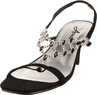 Annie Women's Sadie Sandals,Black,6.5 WW