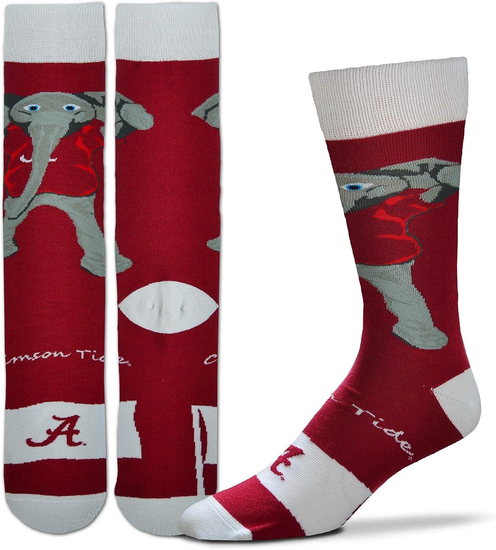 Bare Feet For NCAA - Calcetines para Hombre, diseño de la Bandera de Mascott, Large, Alabama: Amazon.es: Deportes y aire libre