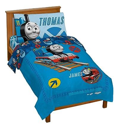 19f701b1b85 Amazon.com: Thomas the Tank Toddler Bed Set: Home & Kitchen