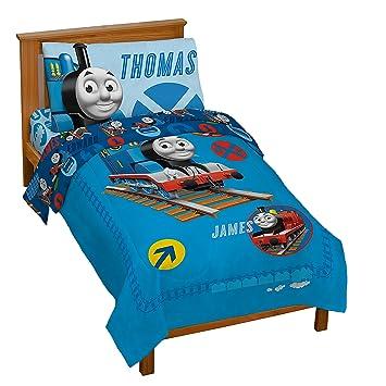 Amazon Com Thomas The Tank Toddler Bed Set Home Kitchen