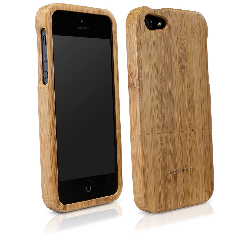 newest cae20 fcd0c iPhone 5 Case, BoxWave® Real, Handmade Bamboo Wood: Amazon.co.uk ...