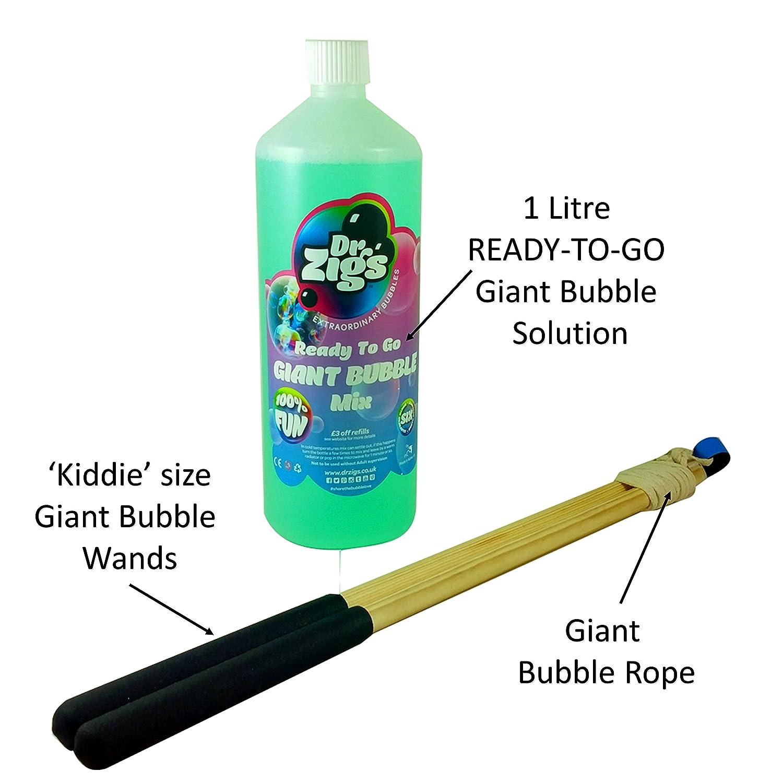 Dr Zigs Pompas de jabón gigantes - Starter kit para niños Extraordinary Bubbles: Amazon.es: Juguetes y juegos