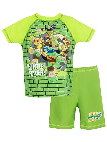 Teenage Mutant Ninja Turtles - Bañador de Dos Piezas para niño - Las Tortugas Ninja