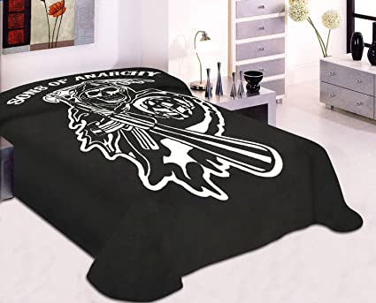 Amazoncom King Size Sons Of Anarchy Reaper Blanket Soa