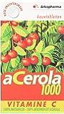 Arkopharma Acérola 1000 Vitamine C 100% Naturelle 2 Boîtes de 30 Comprimés à Croquer