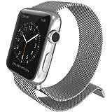 Pulseira para Apple Watch Milanese Original 38mm Aço Inoxdável Fecho Magnético X-Doria Mesh Band Serie 1 2 e 3 [Relógio Apple