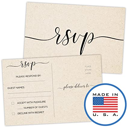 321done rsvp postcards 4 x 6 set of 50 blank with