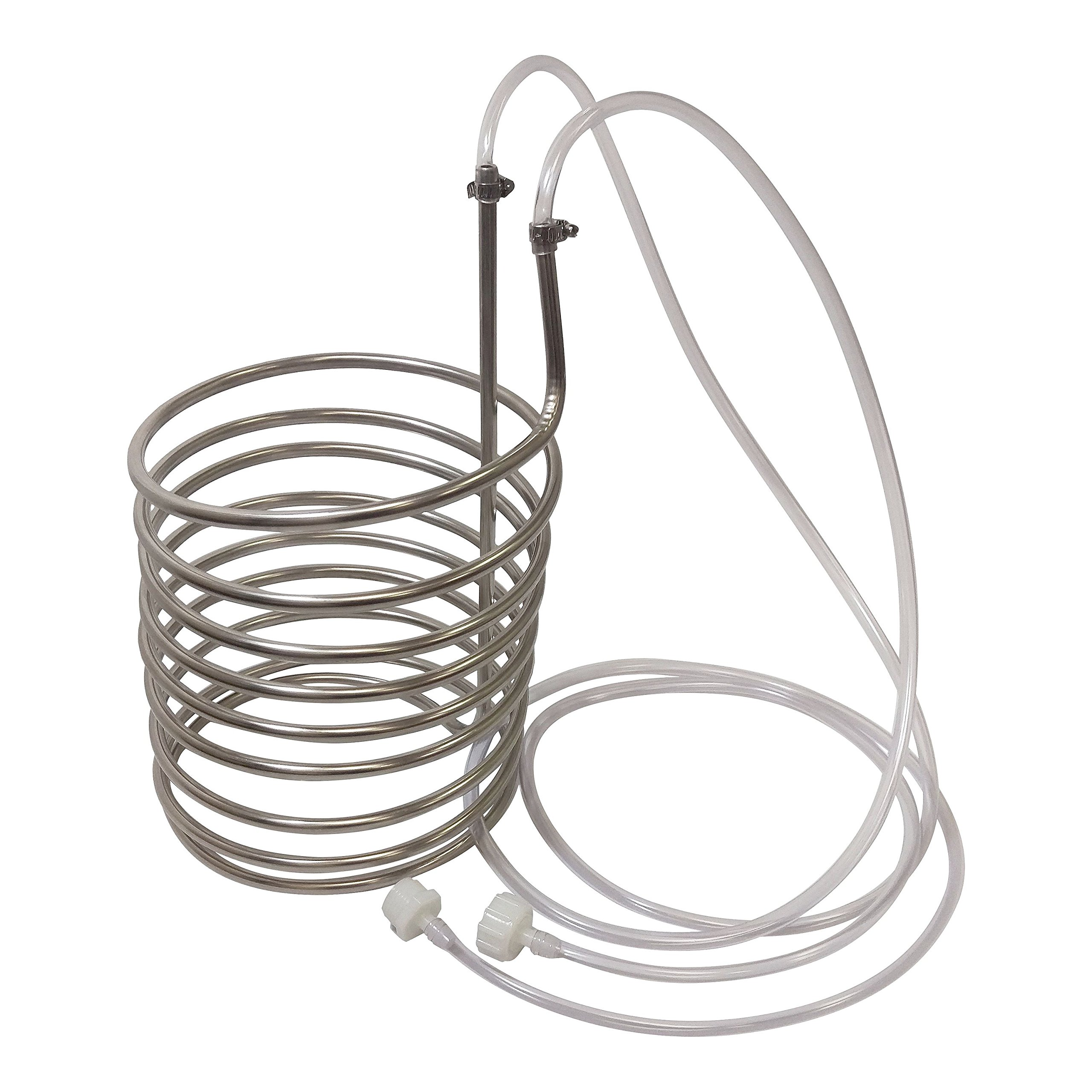 NY Brew Supply Stainless Steel Wort Chiller/Pre-Chiller, Silver by NY Brew Supply