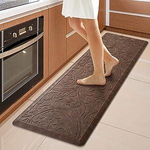 KMAT Kitchen Mat Cushioned Anti-Fatigue Floor Mat Waterproof Non-Slip Standing Mat Ergonomic Comfort Floor Mat Rug for Home,Office,Sink,Laundry,Desk 17.3