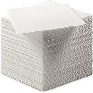BloominGoods Disposable Linen-Feel Dessert and Beverage Napkins - Soft and absorbant cocktail Paper Napkins For Bar, Restaurant, Café, wedding Or Parties (200-Pack)