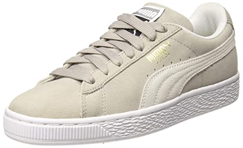 356f41302ce1 Puma Unisex s Suede Classic Ash and White Sneakers-8 UK India (42 EU ...