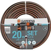 """GARDENA Comfort FLEX slang 13 mm (1/2"""") 20 m, met Original GARDENA System onderdelen: Vormvaste, flexibele tuinslang met…"""