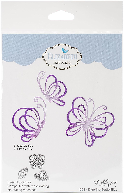 Elizabeth Craft Designs 1323 Metal Die Dancing Butterflies Largest 2 X2