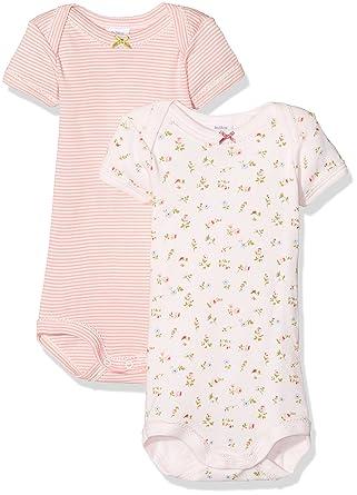61eb20981 Amazon.com  Petit Bateau Girls 2 Pack Short Sleeves Bodysuits Style ...