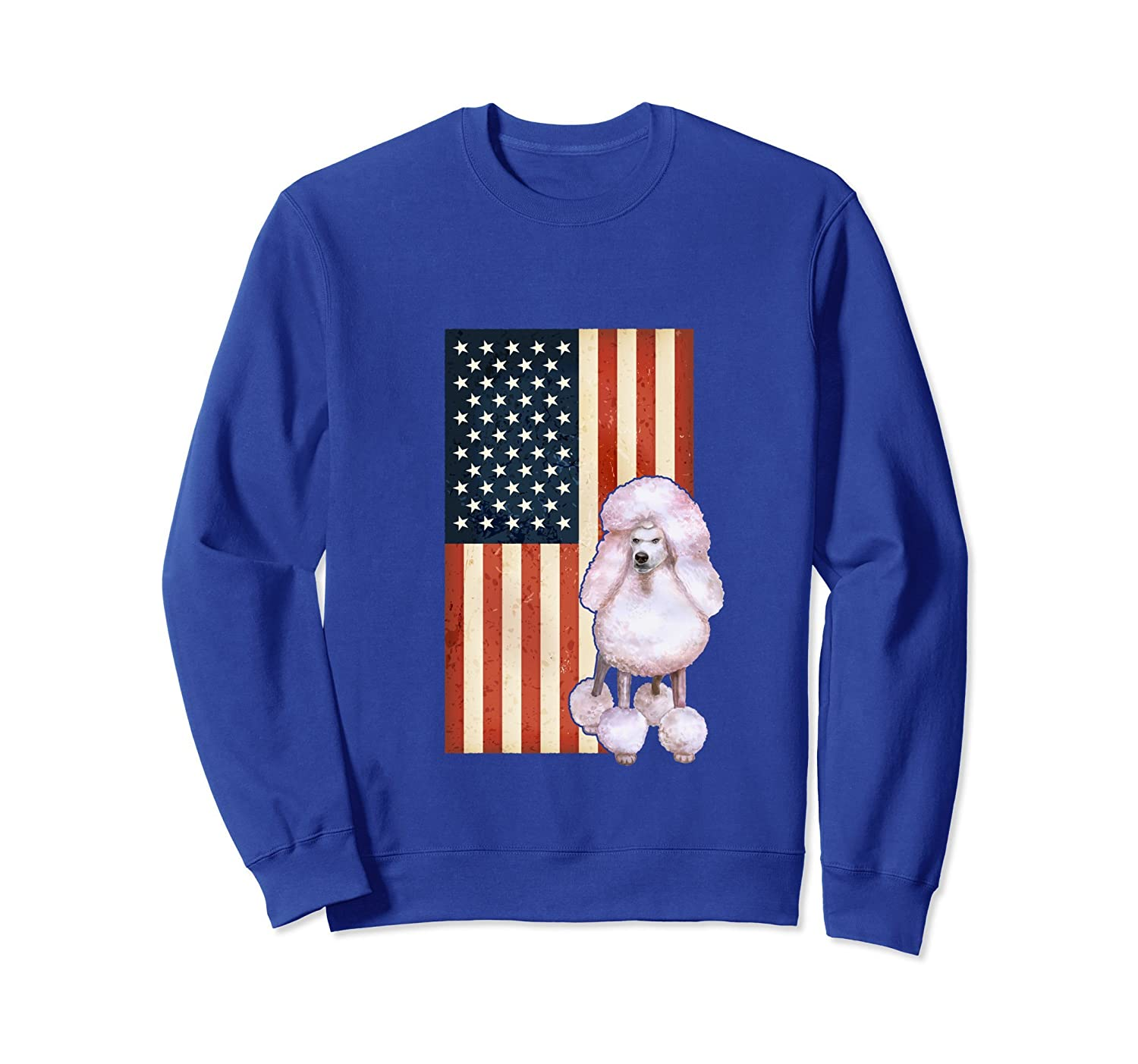 4th of July American Flag Poodle Sweatshirt Men Women Gift-alottee gift