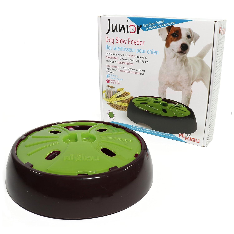 Amazon Aikiou Interactive Dog Bowl Brown Pink Pet Feeding