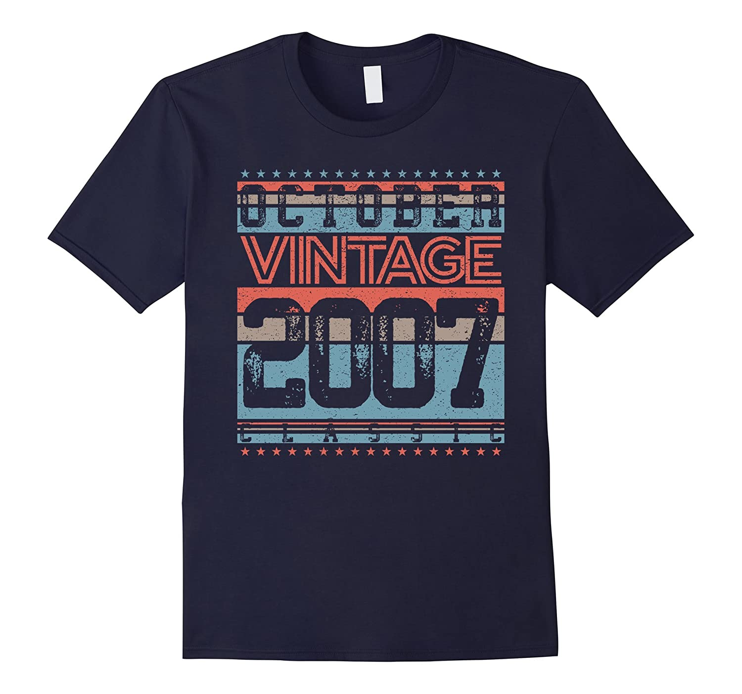 October 2007 10 Years Old Birthday Gift T-Shirt Vintage-TJ