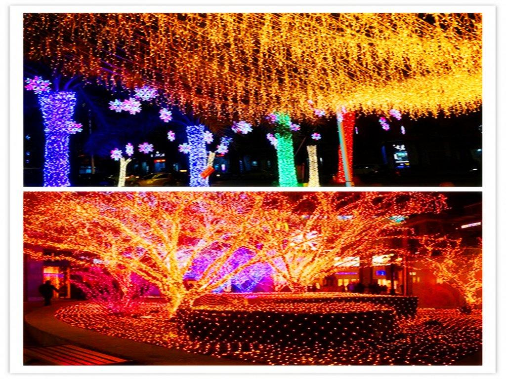 SHINEMU String Lights,Indoor/Outdoor decoration Lights,Fairy Garden Lights for Bedroom lights,Photo wall lights,Patio lights,Gate lights,Xmas lights,Commercial Lights(warm white 100 led 32.8 feet)