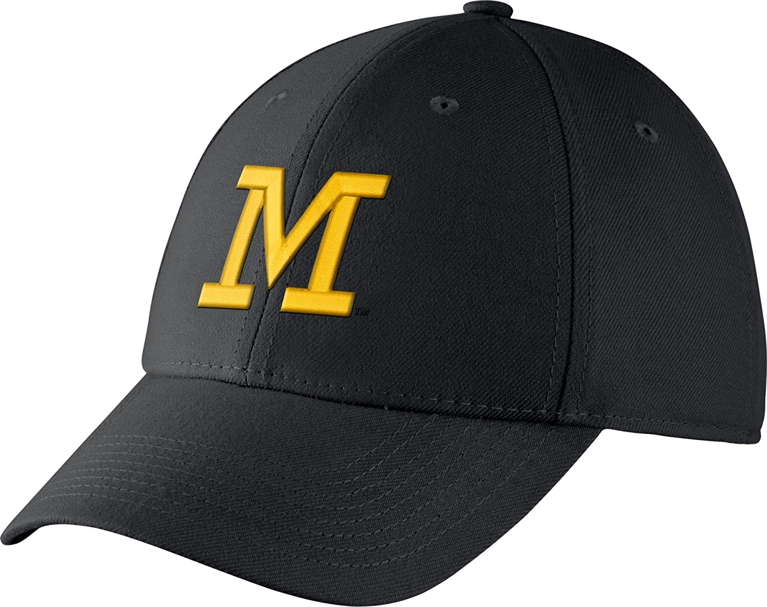 0e3748702 Jordan Men's Michigan Wolverines Blue Dri-FIT Wool Swoosh Flex Hat