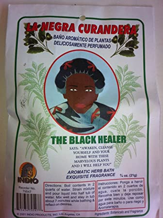 Amazon.com : Indio Products Aromatic Plant Bath for the Black Healer (La Negra Curandera) 3/4 Oz Bag (Bano De Plantas Aromaticas) : Personal Care Products : ...