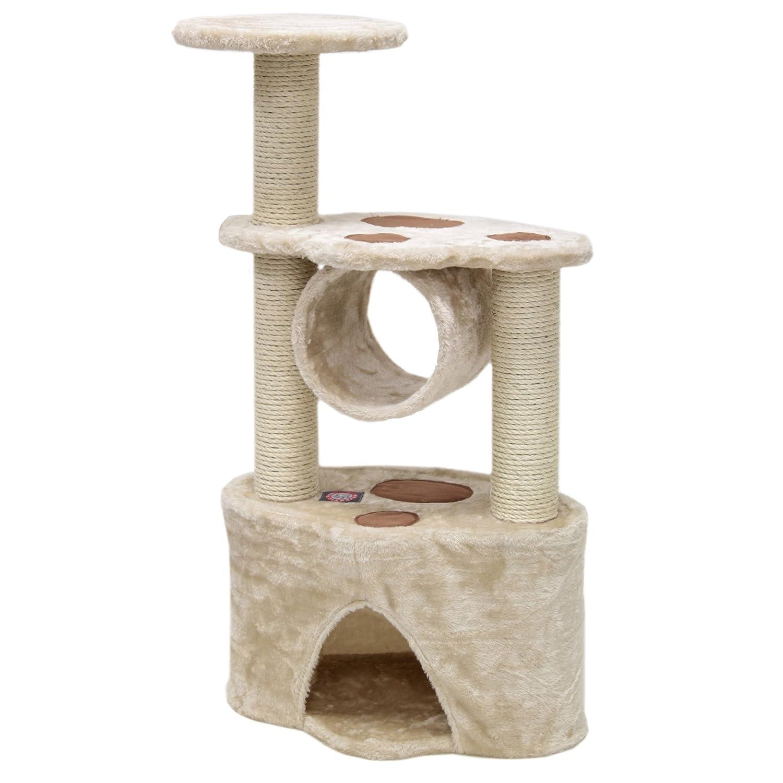Majestic Mascota Productos 37 Pulgadas Beige casita árbol de Actividad rascador Gato Muebles Condo casa Multi Nivel Mascota: Amazon.es: Productos para ...