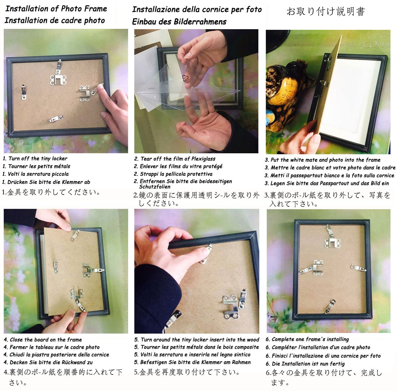 Amazon.com - Giftgarden 5 by 7 Inch Picture Frame Set for Photo ...