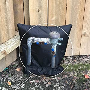 "PF WaterWorks PF0693 NoFREEZE Size Outdoor Sprinkler Vacuum Breaker Freeze Protection Cover/Sock 3M Thinsulate Insulation-Reusable, Waterproof-X Large (24"" x 24""), Black"