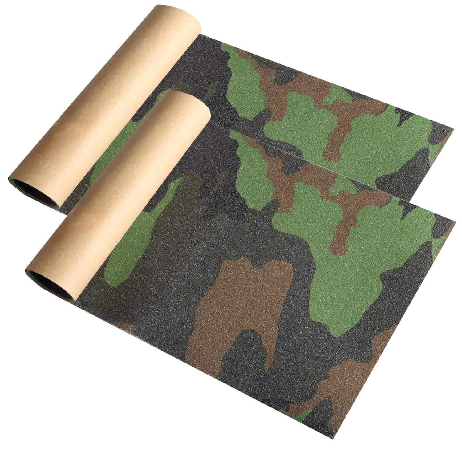 YIXKC Grip Tape Camouflage Mosquitoes Skateboard Griptape Sheet Easy to Apply Longboard Griptape 9 x 33 Inch