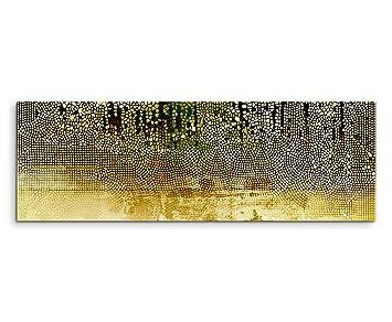 Sinus Art Wandbild 150x50cm Vintage Mosaik Mi Beige, Braun, Blau, Grau,  Schwarz