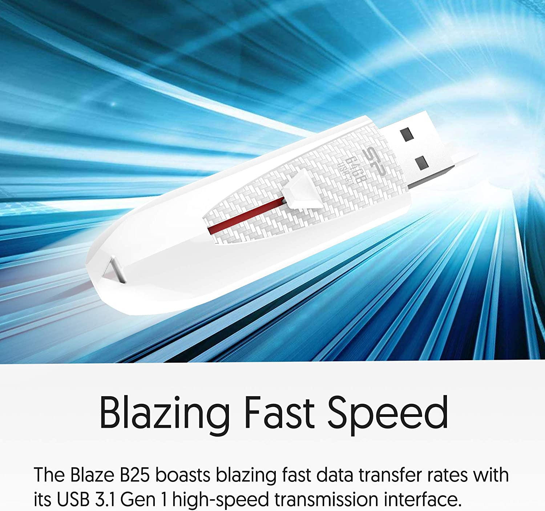 Silicon Power Blaze B25 128GB USB 3.1 GEN 1// USB 3.0 Flash Drive-Black