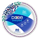 Dixie Everyday Paper Plates, Dinner Size (10 1/16 inches) - Pack of 80 Count