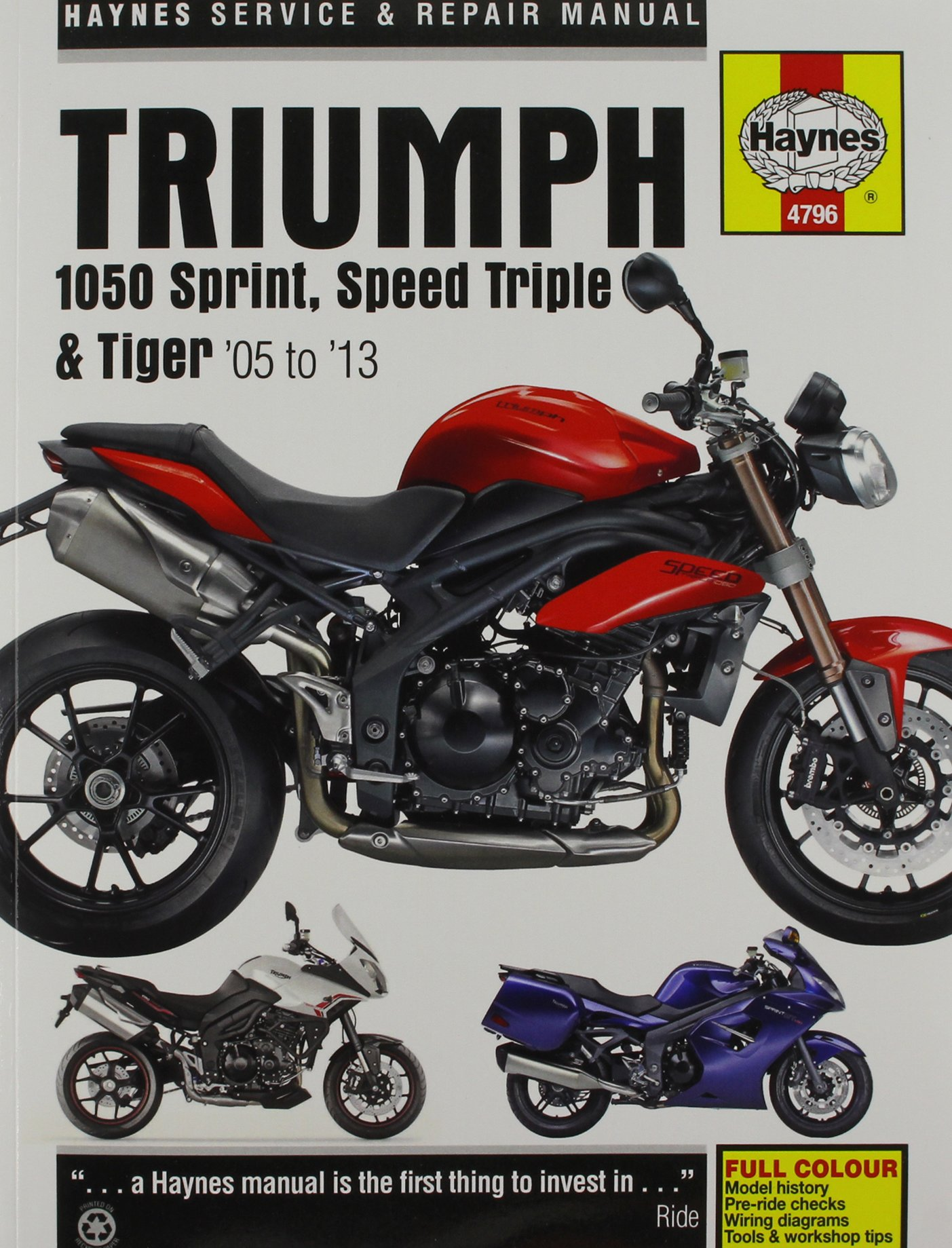 Triumph 1050 Sprint St Speed Triple Tiger 2005 2013 Haynes Wiring Diagram Powersport Anon 9780857338761 Books