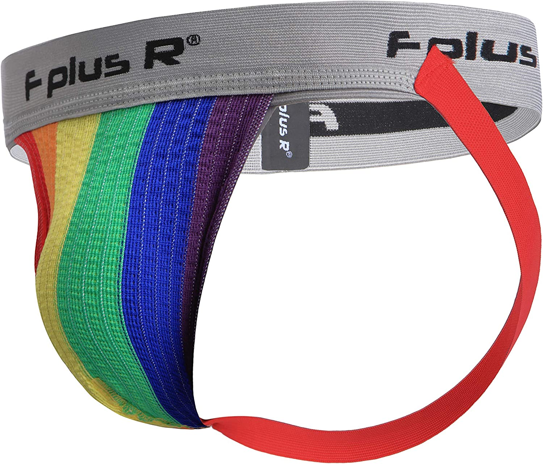 F plus R Men's Rainbow Gay Pride LGBT Jockstrap
