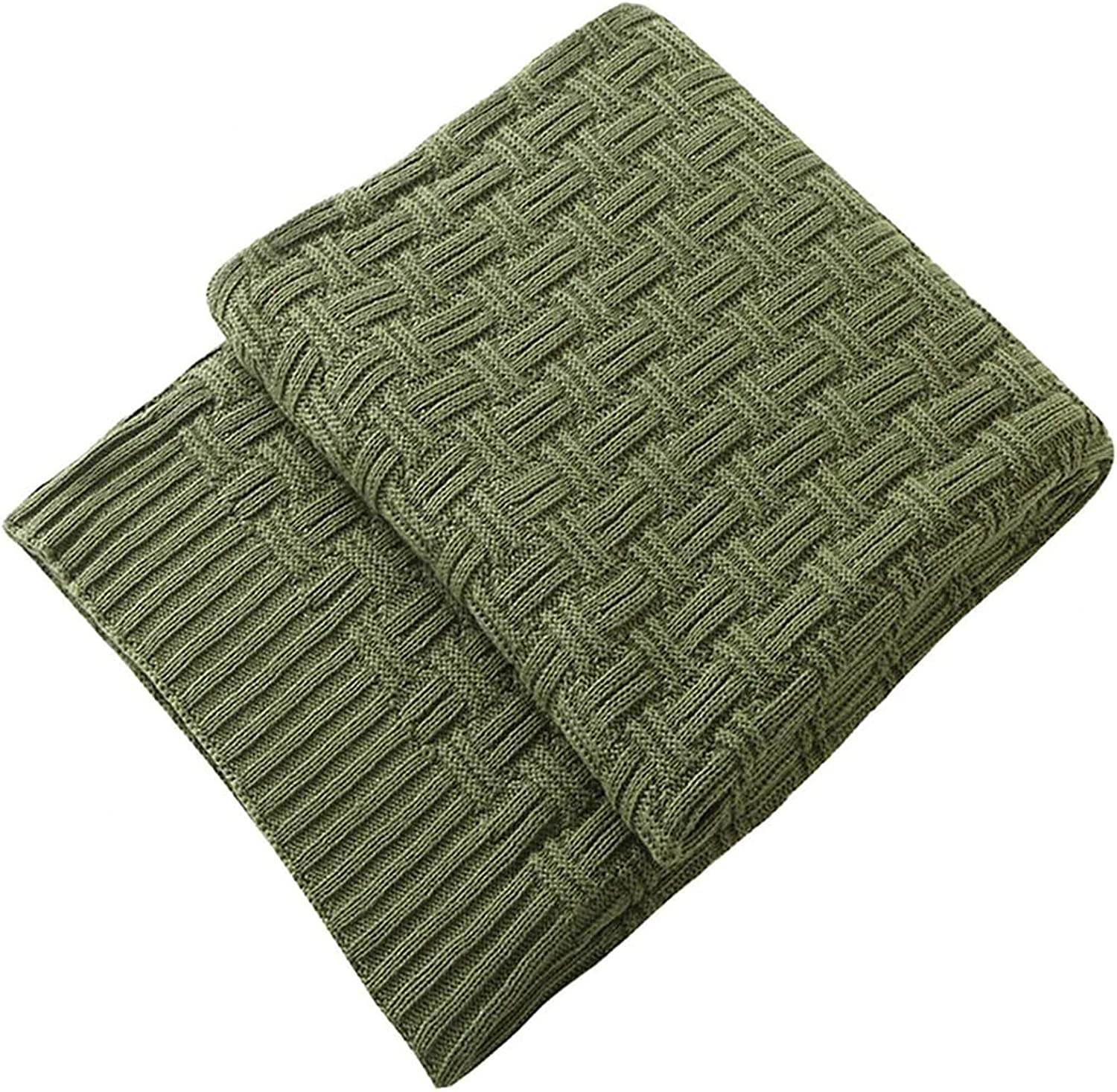 TREELY 100% Daily bargain sale Cotton Knitted Our shop OFFers the best service Throw Cover Blanket 60 Couch